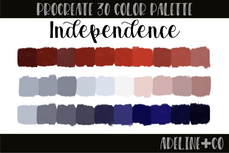 Independence Procreate color palette example image 1