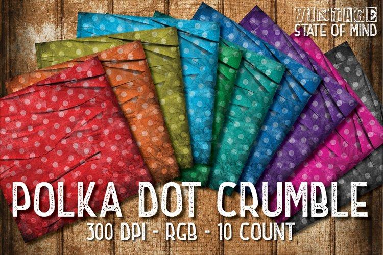 Crumbled Polka Dots Digital Papers example image 1