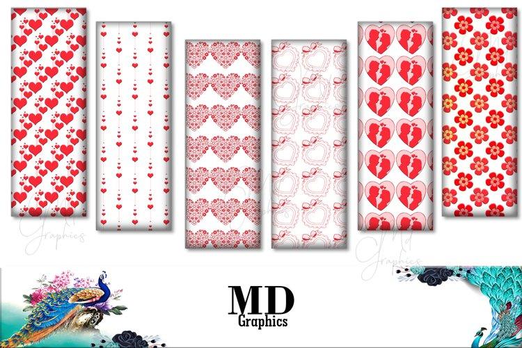 Valentine Bookmarks, Valentine Images, Heart, Love Printable example image 1