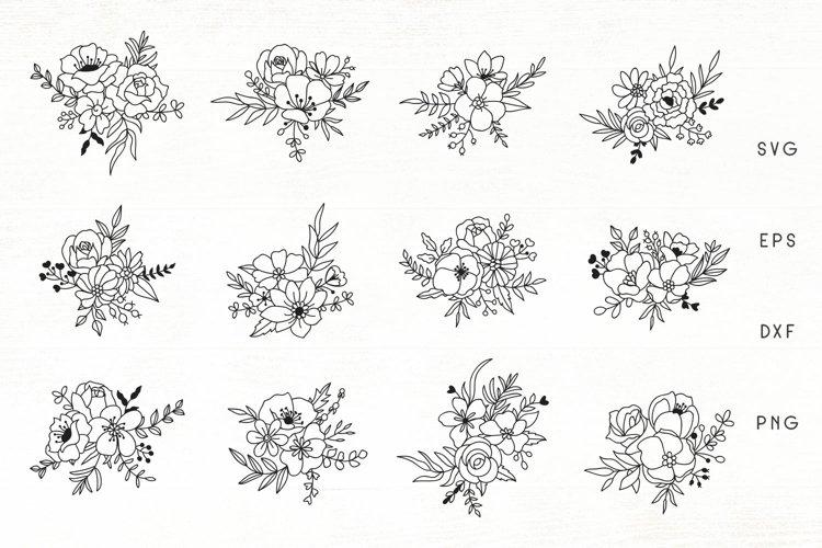Flowers SVG Set of 12 - Flower Ornaments SVG