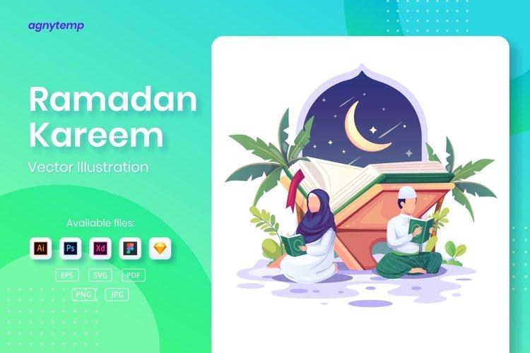 Ramadan Kareem concept flat Illustration example image 1