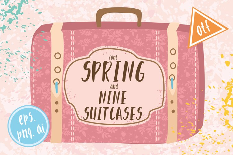 Font spring and suitscases example image 1
