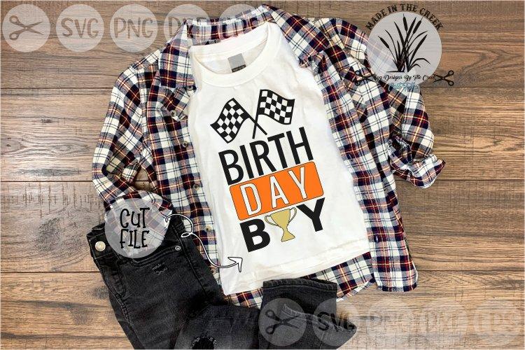 Birthday Boy, Race Cars, Trophy, Kids Birthday, Cut File SVG example image 1