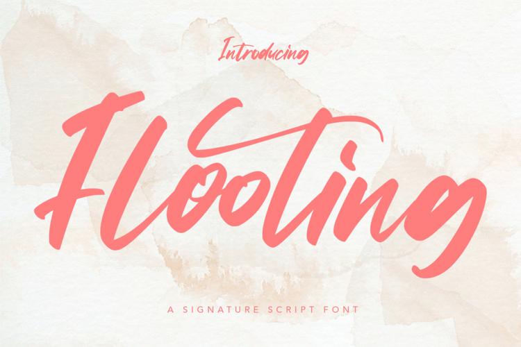 Web Font Flooting - Signature Script Font example image 1
