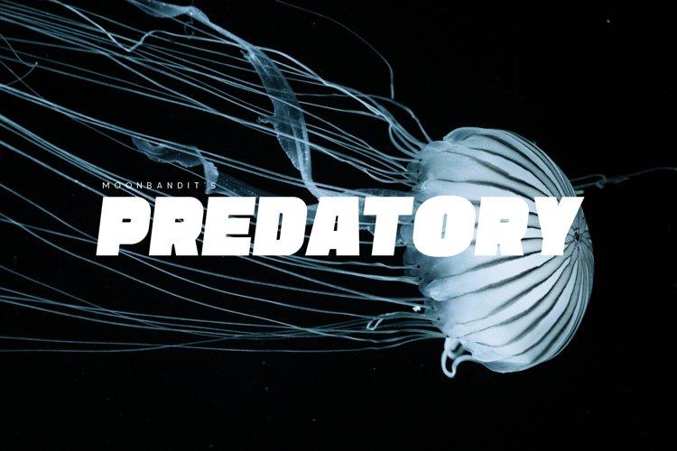 Predatory - bold Titling sans
