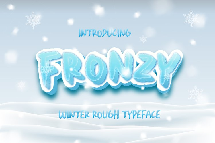 Fronzy - Winter Rough Typeface example image 1