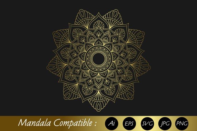 Mandala Gold with Eps 10, SVG