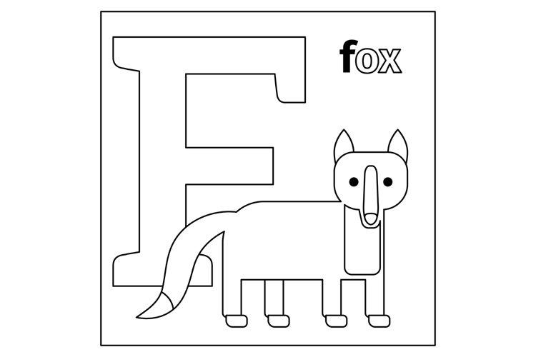 Fox, Letter F Coloring Page (832490) Illustrations Design Bundles