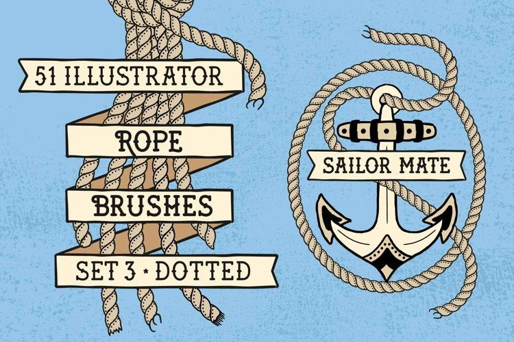 Sailor Mate's Rope Brushes III - Dots example image 1