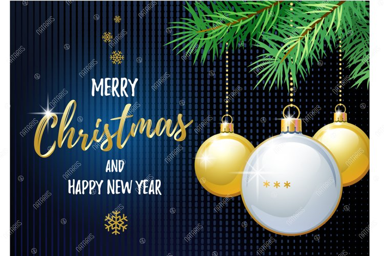 Merry Christmas and Happy New Year. Ping Pong. example image 1