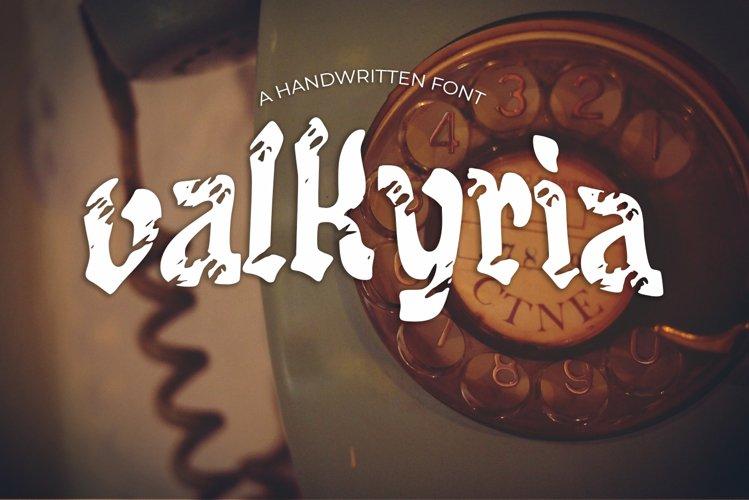 Valkyria Vintage Font example image 1