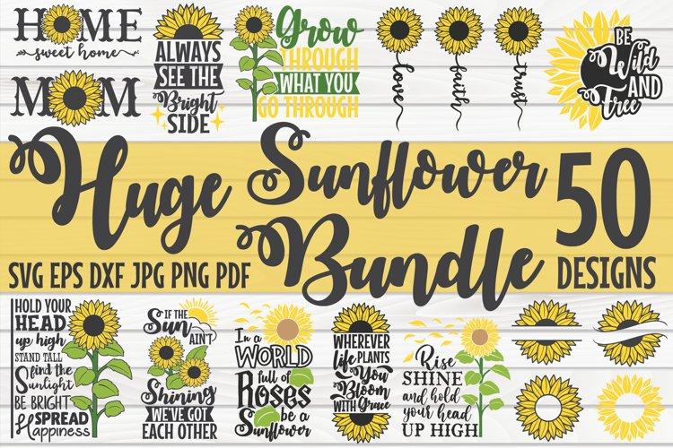 Huge Sunflower Bundle SVG | 50 Designs