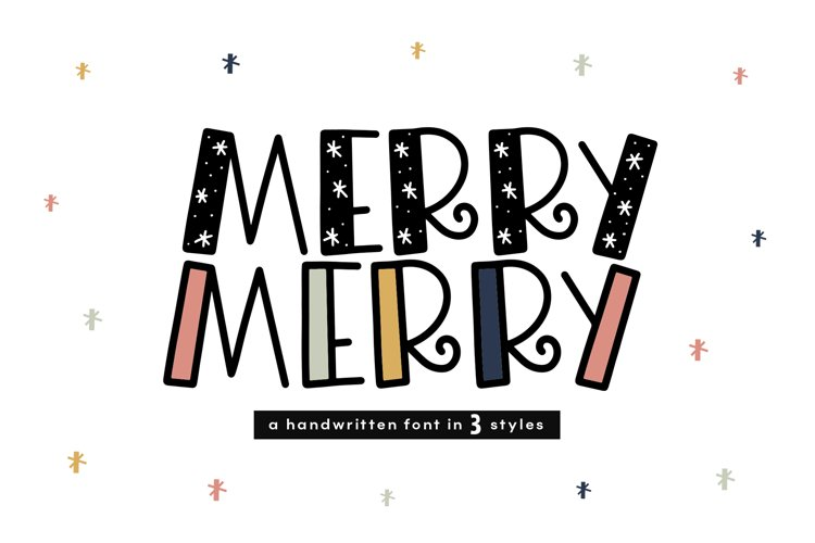 Merry Merry - A Fun Handwritten Font in Three Styles! example image 1
