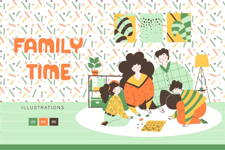 Family time - warm illustration example image 1
