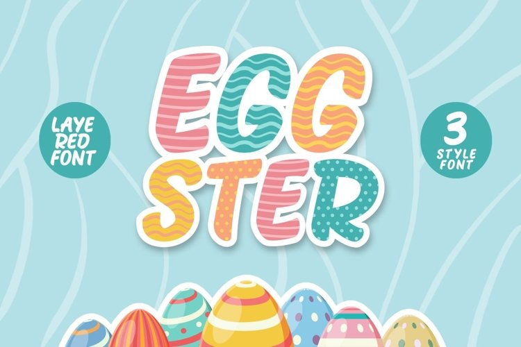 Web Font Eggster Display example image 1