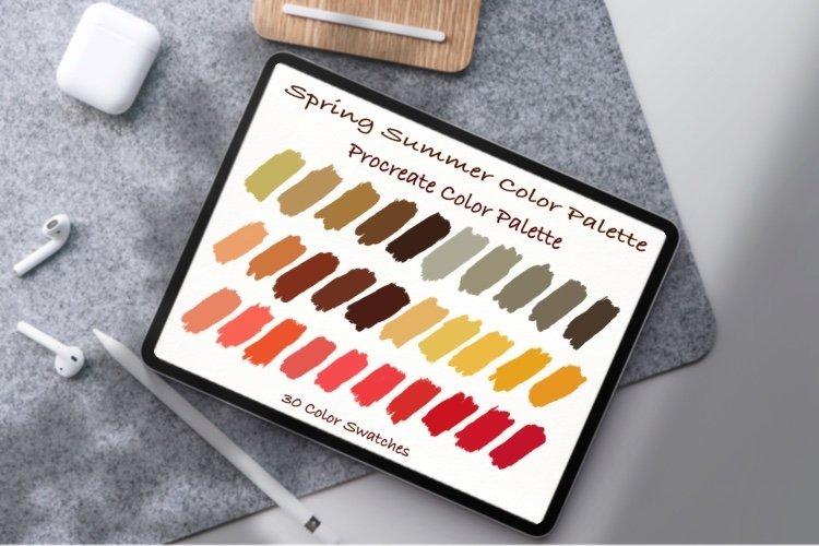 Spring Summer Color Palette, Pantone color ,Procreate Palett example image 1