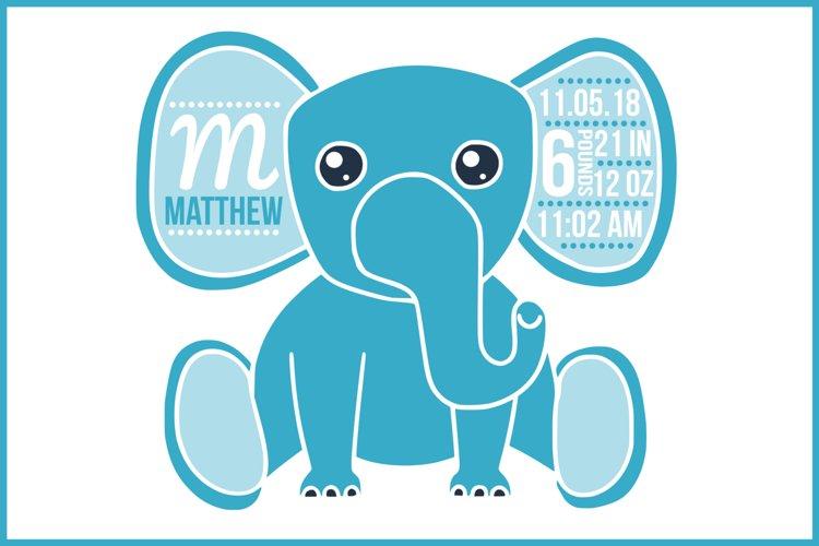 Download Birth Stats Svg Birth Stats Template Elephant Svg File 69798 Svgs Design Bundles