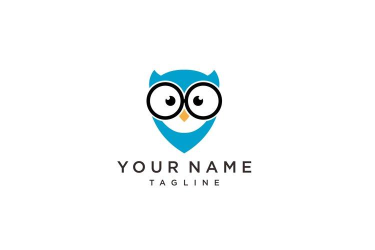 Owl bird simple logo template design. Smart Education logo