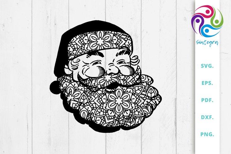 Zentangle Santa Claus Svg File