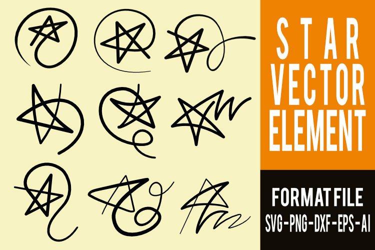 Star element, hand draw - vector design