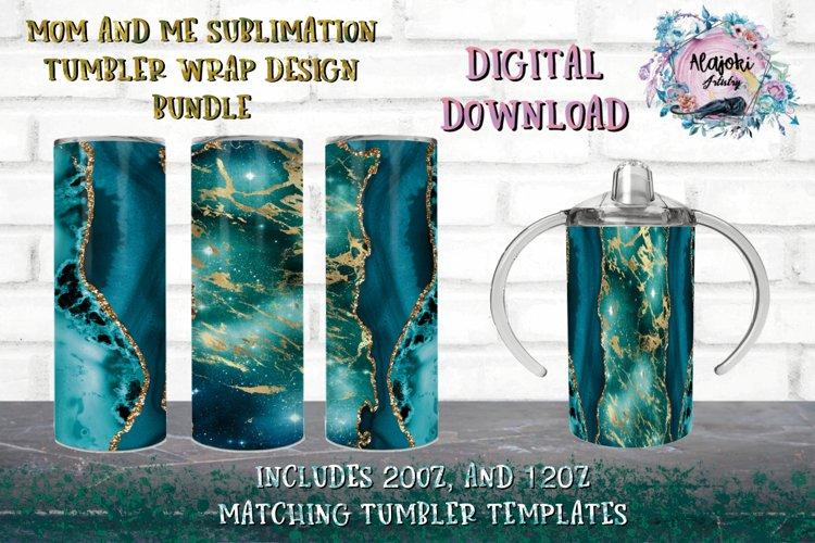 20oz & 12oz  Sublimation Tumbler Wrap   Design Bundle example image 1
