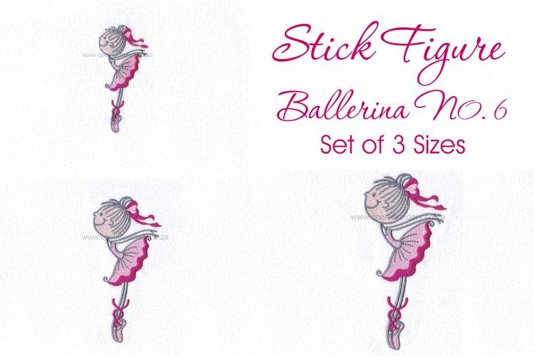 Stick Figure Ballerina No.6