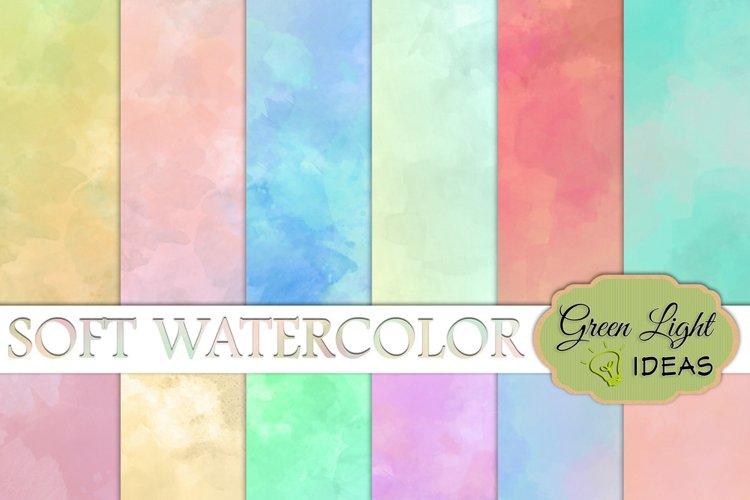 Soft Watercolor Digital Papers
