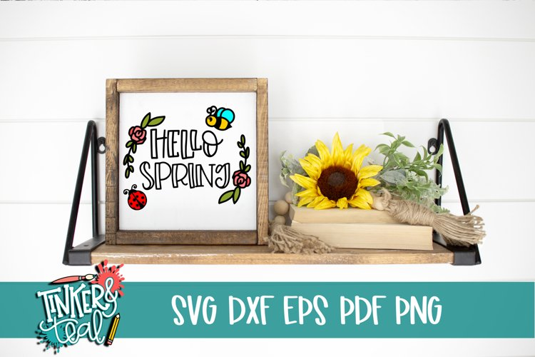 Hello Spring SVG / Cut file / Spring svg example image 1
