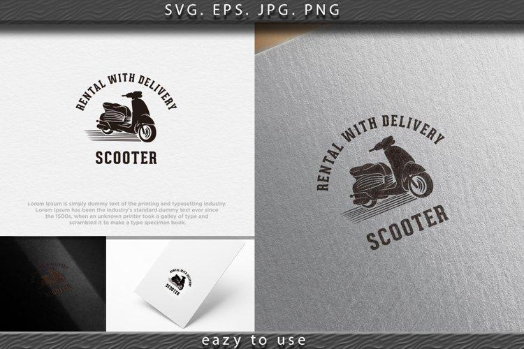 vintage scooter, rental, fast delivery logo Designs Inspirat example image 1