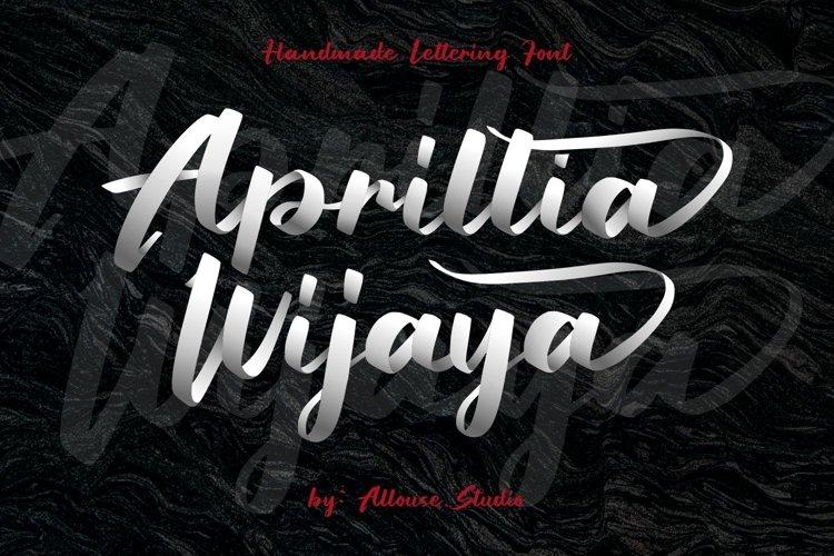 Aprillia Wijaya - Handmade Lettering Font example image 1