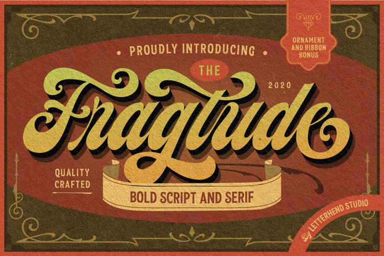 Fragtude - Vintage Display Typeface example image 1