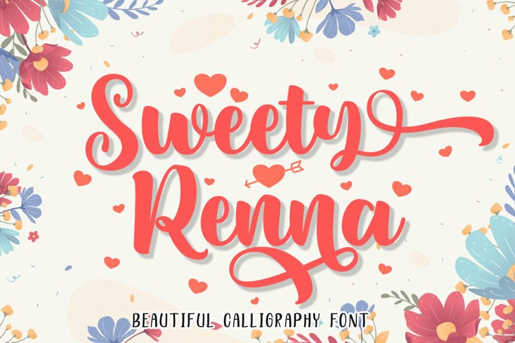 Sweety Renna | A Beautiful Bold Calligraphy Font example image 1