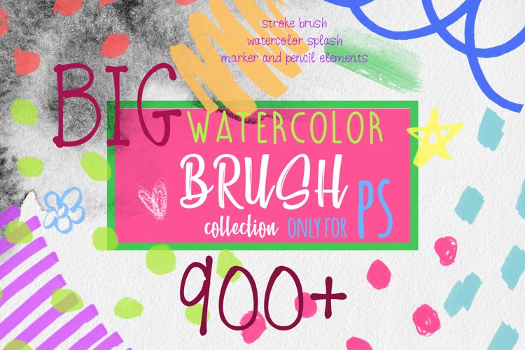 PS watercolor texture brushes example image 1