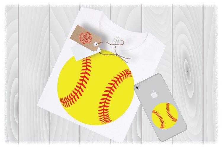 Softball SVG Files for Cricut Designs | Sport SVG Files example image 1
