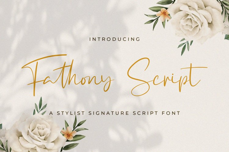 Fathony Script - Handwritten Font example image 1