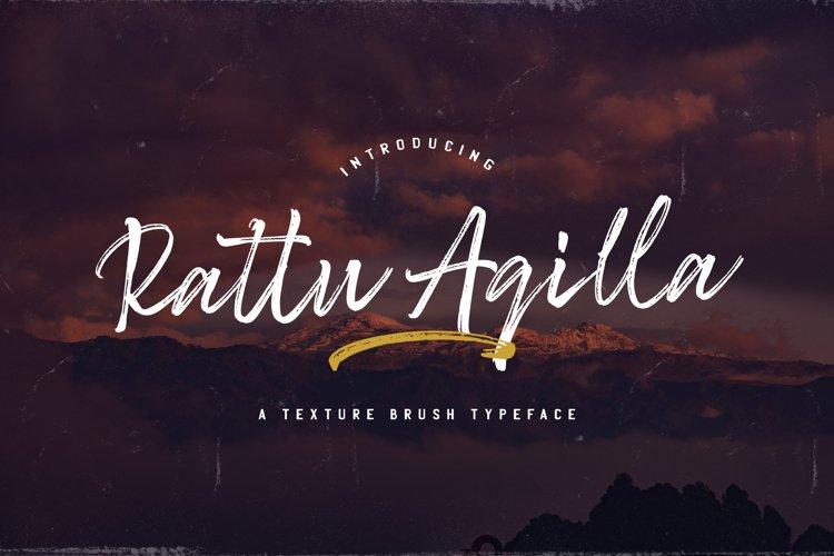 Rattu Aqilla - Textured Brush Font example image 1