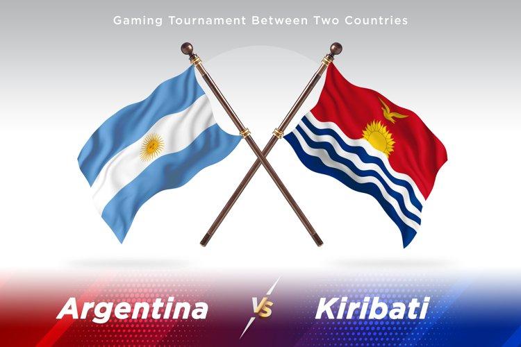 Argentina vs Kiribati Two Flags example image 1