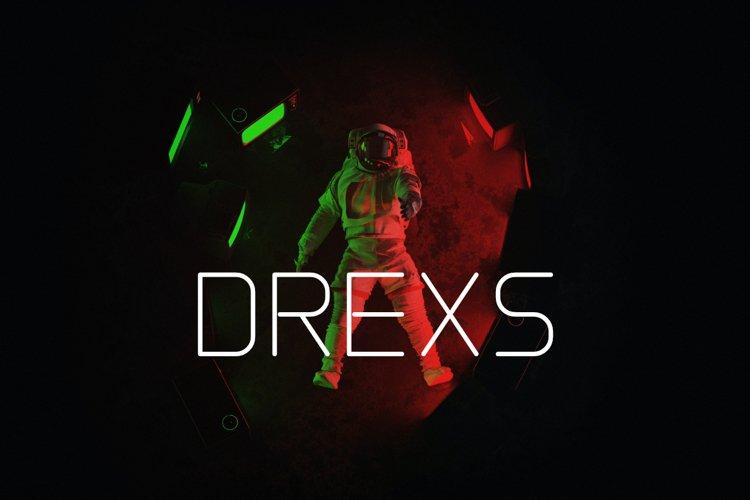 DREXS - Futuristic Typeface example image 1