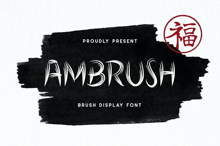 Web Font Ambrush Display Font example image 1