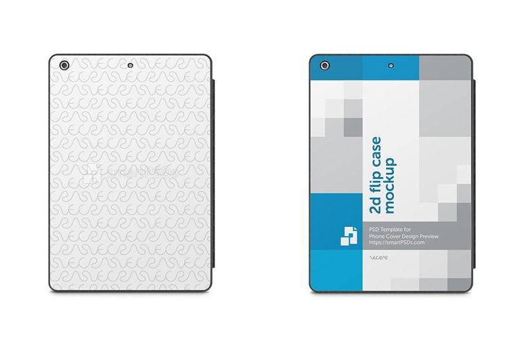 Apple iPad Air 2d Tablet Smart Case Design Mockup 2013 example image 1