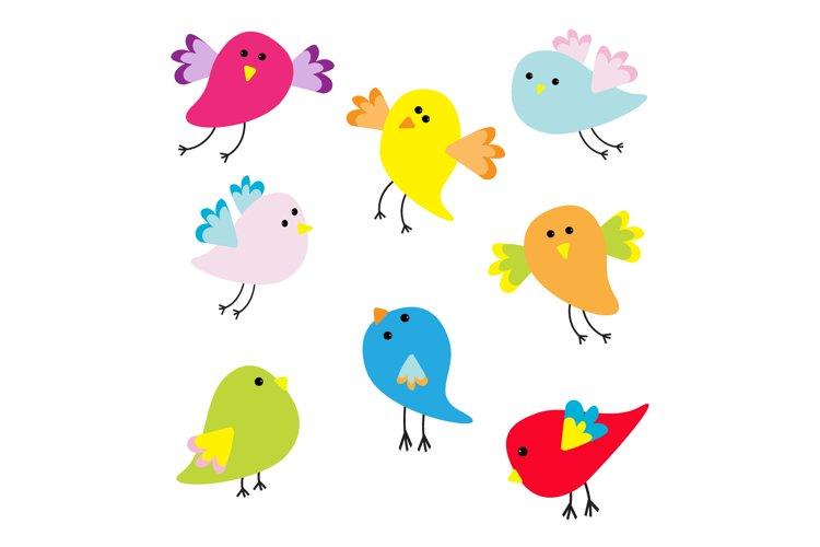 Funny bird set. Vector illustration example image 1