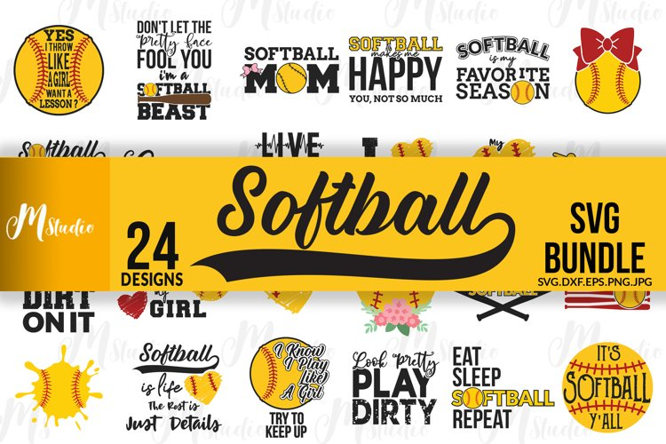 Softball SVG Bundle example image 1