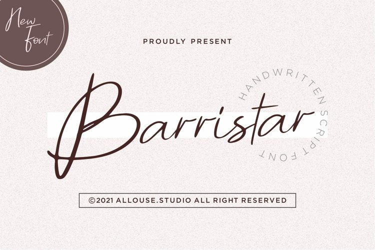 Web Font - Barristar example image 1