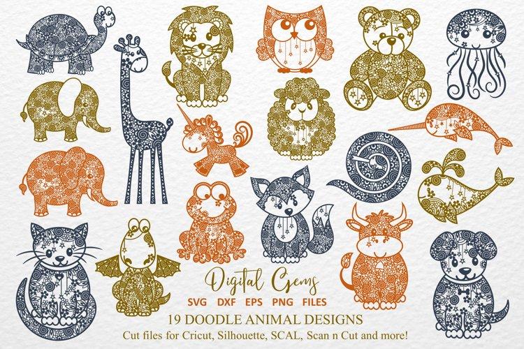The Doodle Animal Bundle SVG