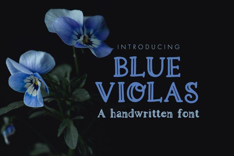 Blue Violas - a handwritten font