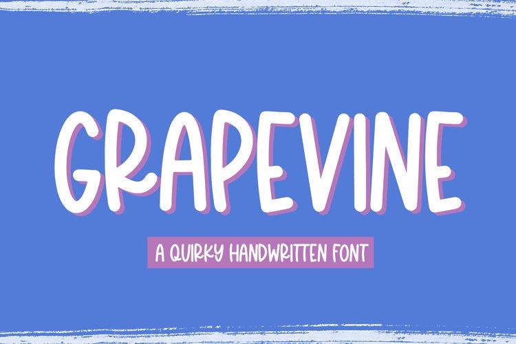 Grapevine - A Fun Handwritten Font example image 1
