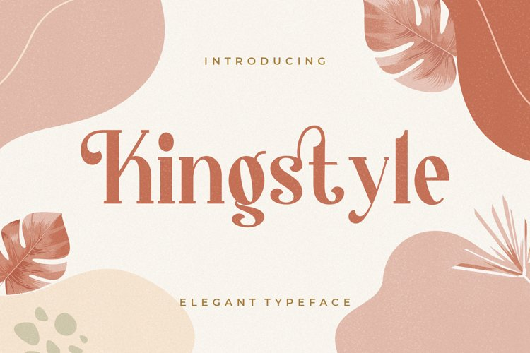 Kingstyle Elegant Serif example image 1