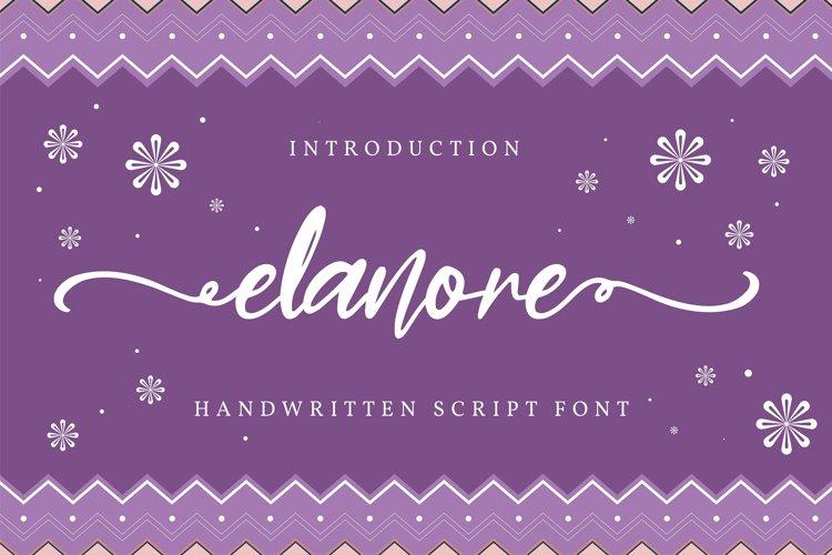 Elanore | Handwritten Script Font example image 1