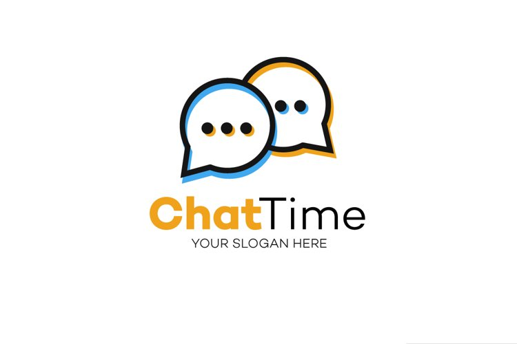 Chat logo vector example image 1