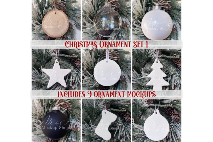 Christmas Ornament Mockup Set 1
